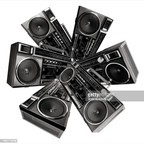 abstract retro stereos - colors soundtrack stock pictures, royalty-free photos & images