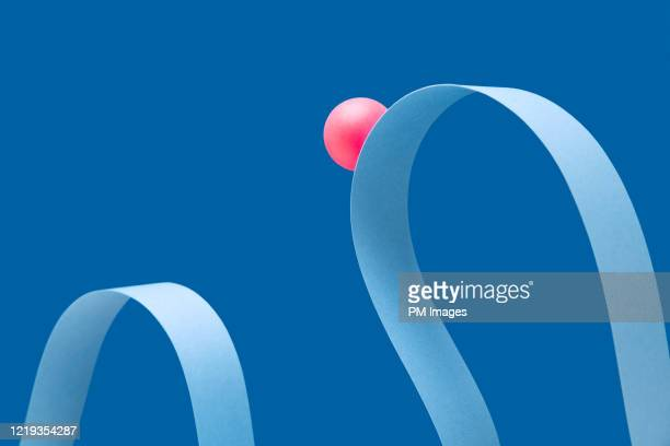 abstract roller coaster, red ball - concept stock pictures, royalty-free photos & images
