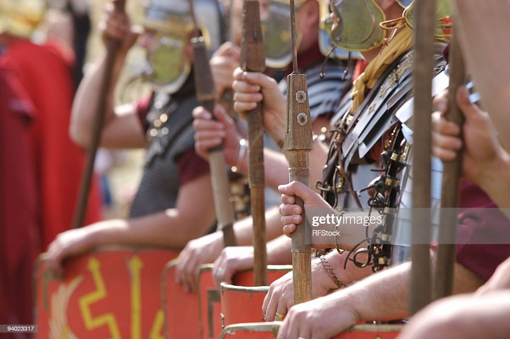 Abstract Roman Soldiers : Stock Photo