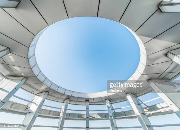 abstract round architecture - man made structure stock pictures, royalty-free photos & images