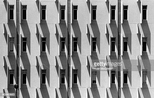 abstract shadows on building - lincoln nebraska stock pictures, royalty-free photos & images