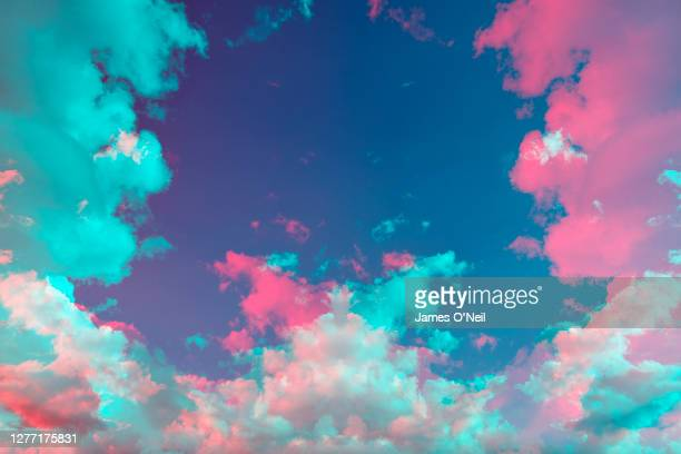 abstract sky and cloud patterns - bizarre stock pictures, royalty-free photos & images