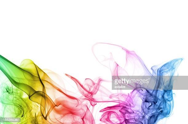 Abstrakt Rauch Hintergrund im spectrum Farben