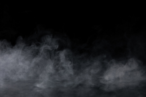 Abstract Smoke on black Background 964045046
