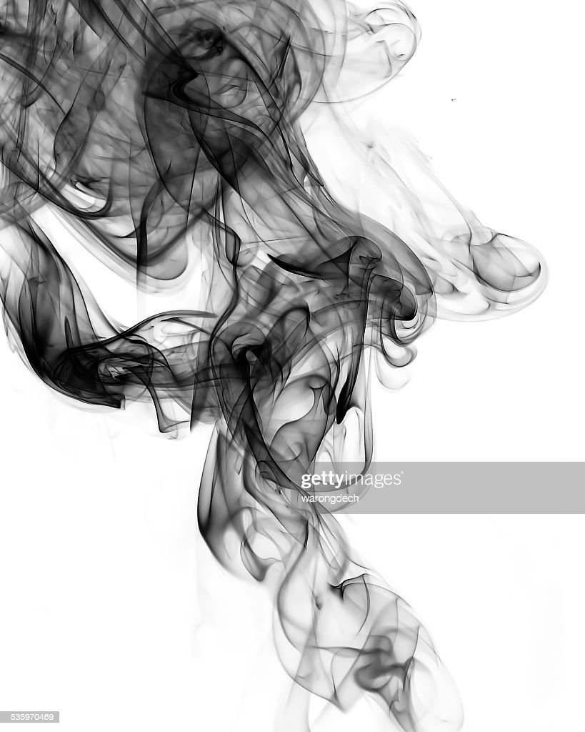 Abstract smoke on white background. : Stock Photo