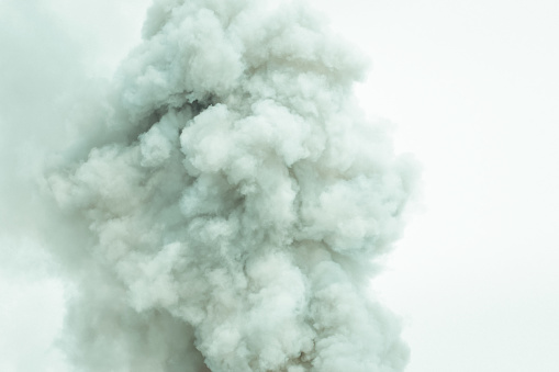 Abstract smoke on white background,Bomb smoke background - gettyimageskorea