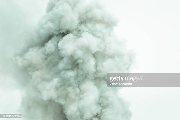 Abstract smoke on white background,Bomb smoke background