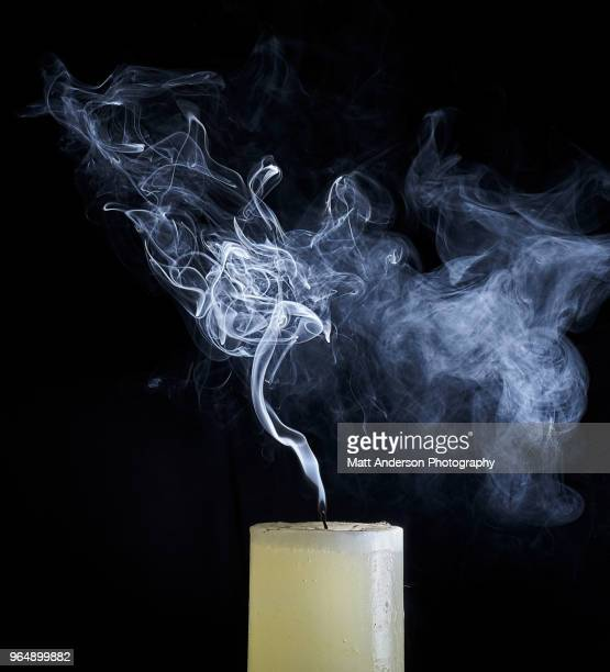 abstract smoke shapes - candle stock pictures, royalty-free photos & images
