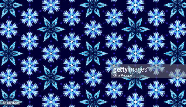 Abstract snowflakes,  seamless pattern.