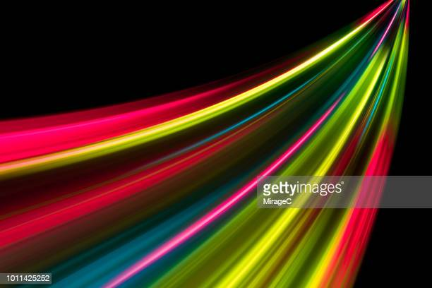 abstract speed blur light trails - data stream stock photos and pictures