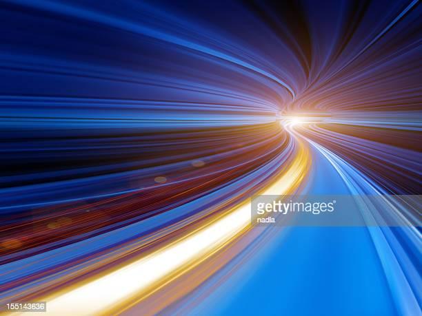 Vitesse mouvement abstrait tunnel