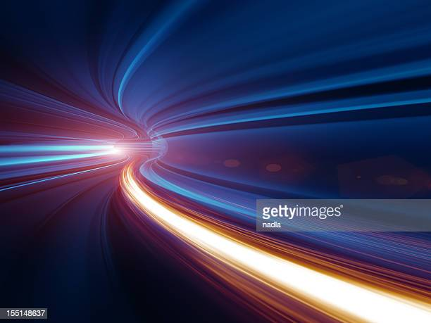abstract speed motion in tunnel - curve stock pictures, royalty-free photos & images