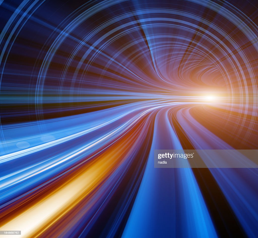 Abstract Speed motion in tunnel : Stock Photo