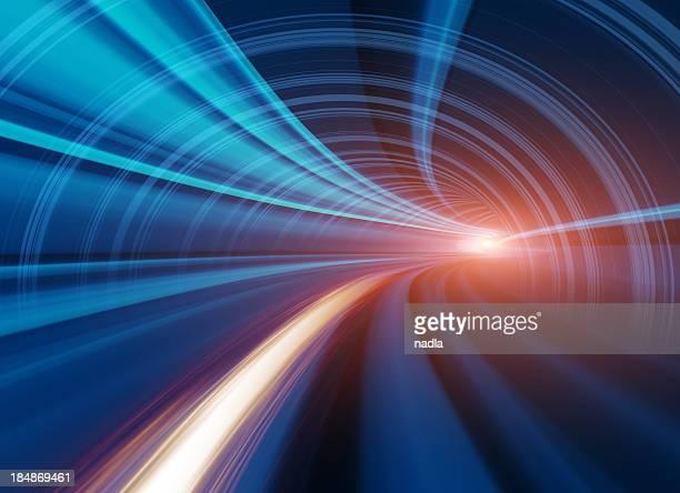 Abstract velocidad de movimiento en el túnel