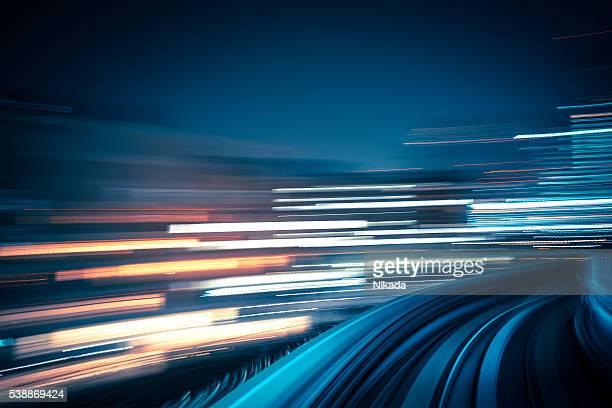 Abstrakte Geschwindigkeit Bewegung durch die Stadt