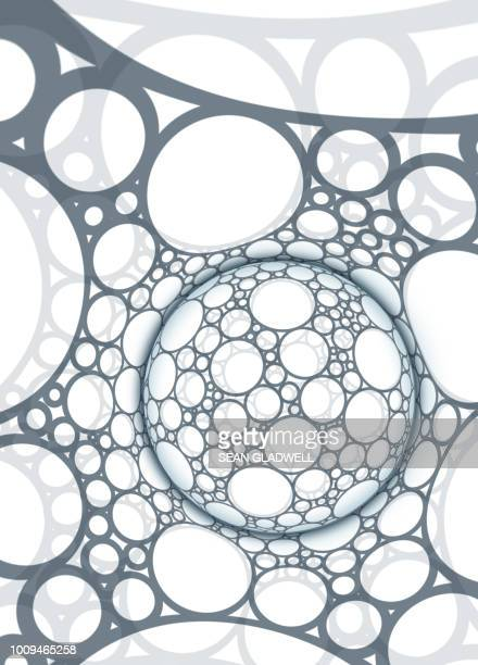 Abstract sphere background