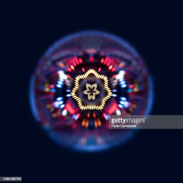 abstract spiral light of merry-go-round - big data circle stock pictures, royalty-free photos & images
