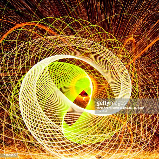 abstract spirograph lightpainting