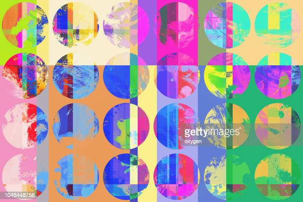 abstract spotted geometric pattern background. - glitch technique stock photos and pictures
