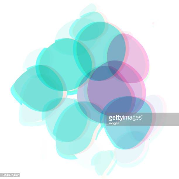 Abstract spotted green and violet pattern background