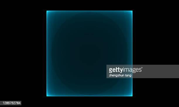 abstract square shape on black background. - quadratisch komposition stock-fotos und bilder