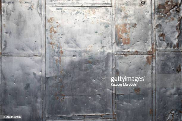 abstract steel plate texture background - metallic stock photos and pictures