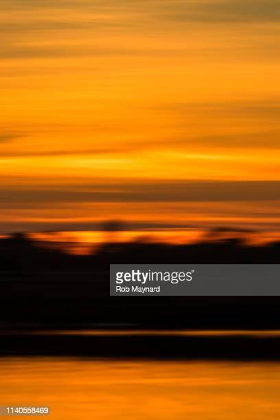 Abstract sunset at Pagham lake