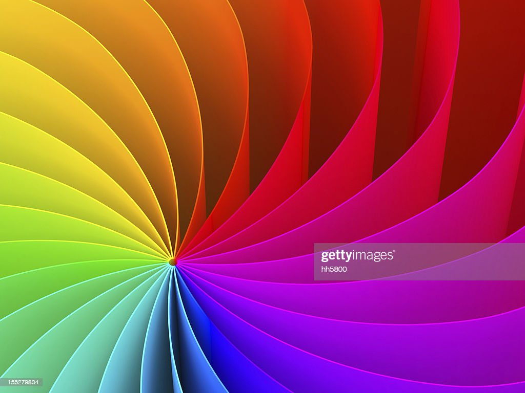 Abstract swirl pattern of rainbow color spectrum : Stock Photo
