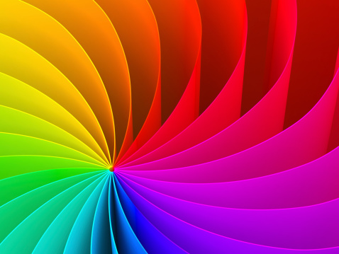 Abstract swirl pattern of rainbow color spectrum 155279804