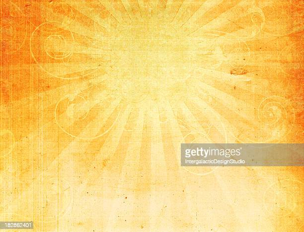 Abstract Swirly Sun Grunge Background