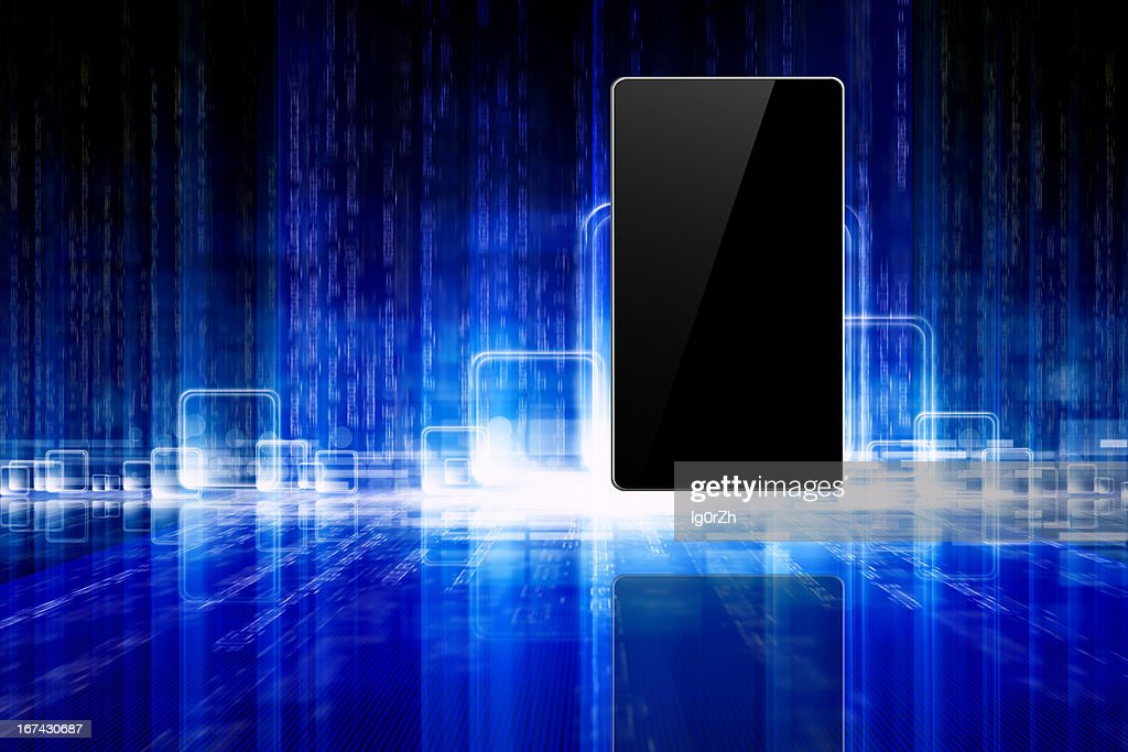 Abstrakt tablet, smartphone : Stock-Foto