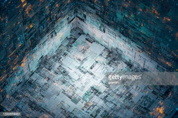 hintergrundbild der abstrakten technologie - computeranlage stock-fotos und bilder
