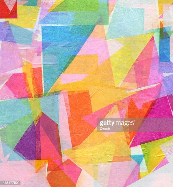 Abstrakte Seidenpapier Collage