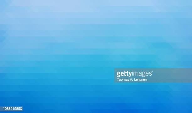 abstract turquoise colored triangle background - multi colored background stock pictures, royalty-free photos & images