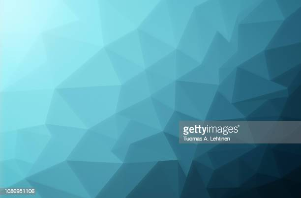 Abstract turquoise low poly background
