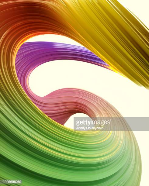 abstract twisted multicolored shape - pattern stock pictures, royalty-free photos & images