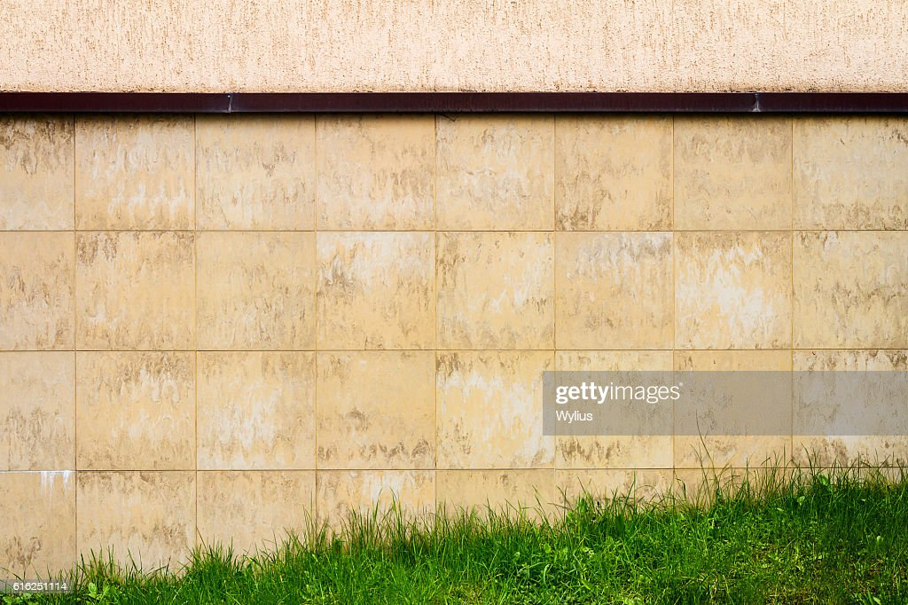 Abstract urban brown tile wall : Foto de stock