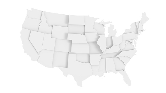 Abstract US states map 1151427234