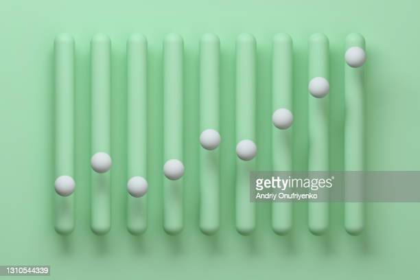 abstract vertical growing bar graph. - moving up stock pictures, royalty-free photos & images