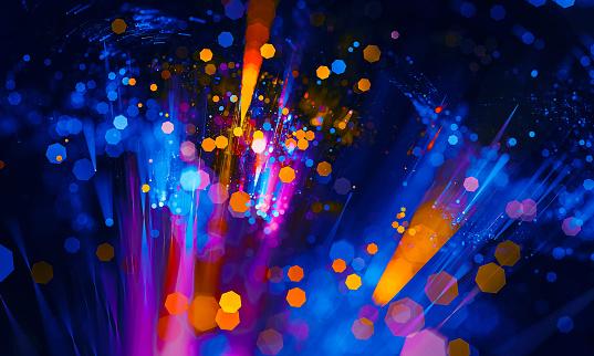 Abstract vibrant bokeh sparkling spray circle - gettyimageskorea