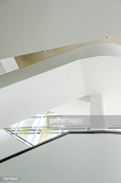 Abstract view from below a corporate staircase