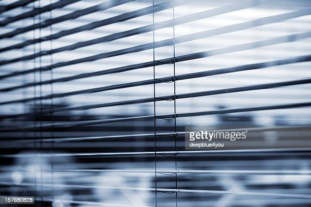abstract view of a busines windows with (open) Jalousie