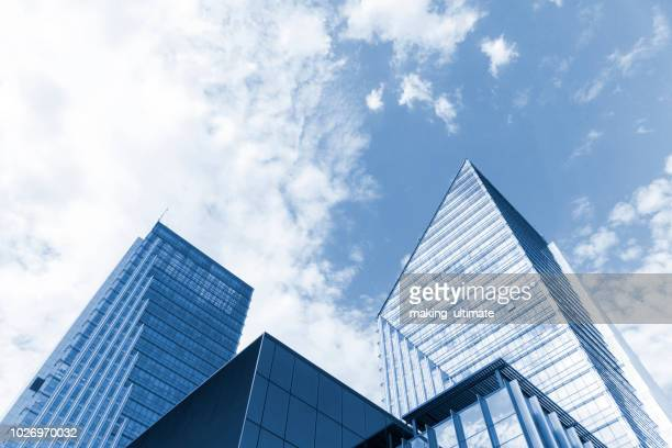 abstract view of a skyscraper - high section stock pictures, royalty-free photos & images
