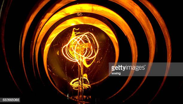 Abstract View of an Old Ligh Bulb