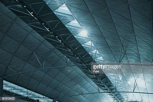 Abstract view of modern architecture in a ceiling