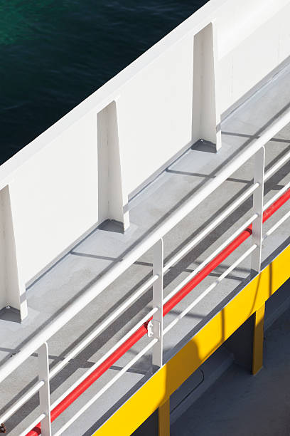 Abstract view of walkway bridge