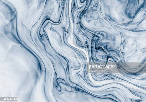 abstract water blue sea wave background. fractal wavy transparent pattern - 空気感 ストックフォトと画像