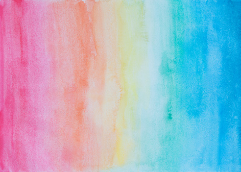 Abstract watercolor background in rainbow colors - gettyimageskorea