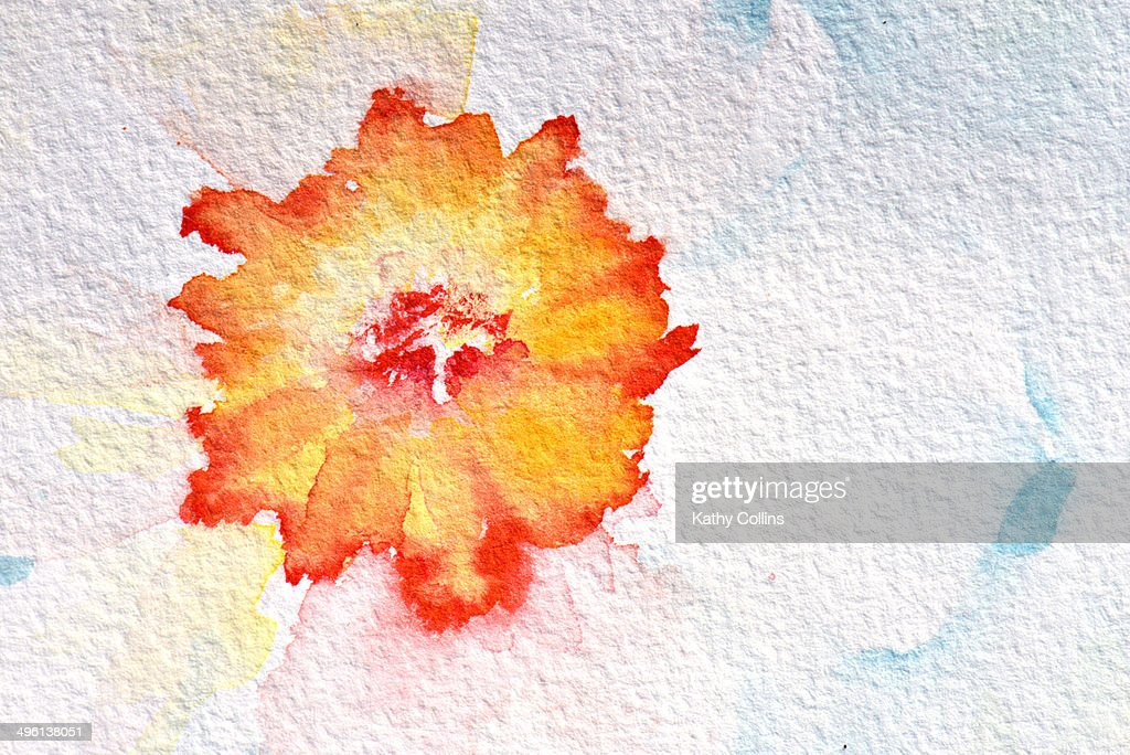 Abstract watercolour flowers : ストックフォト