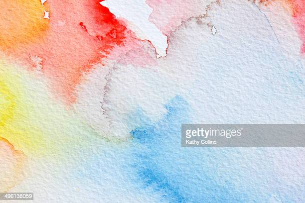 Abstract watercolour hadpainted clouds